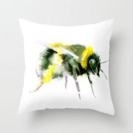 Bumblebee minimalist bee decor Throw Pillow