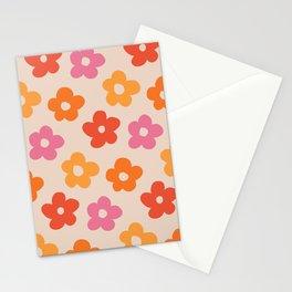 Retro 60s 70s Flowers Pattern #pattern #vintage Stationery Cards