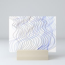 Waves Lines Mini Art Print