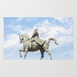 Roumania, Equestrian Statue Of Charles I, Bucarest Rug
