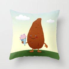 Sweet Potato Throw Pillow