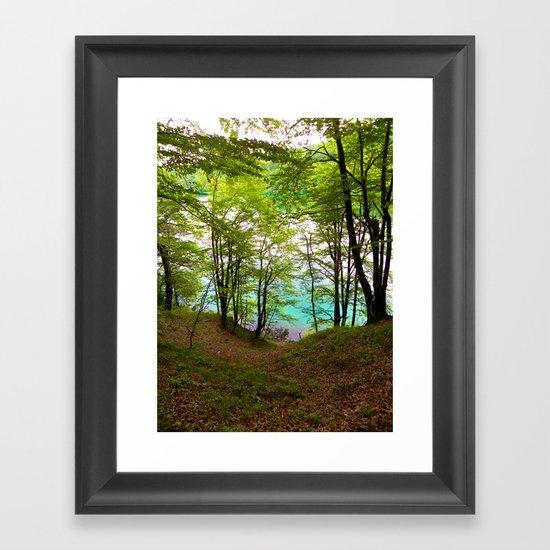 Plitvice Lakes Framed Art Print