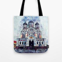 Alexander Nevsky Cathedral Tallinn Tote Bag