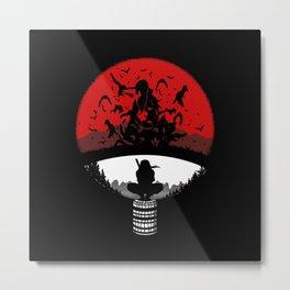 Shadow of Itachi Uchiha Metal Print