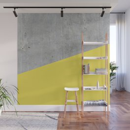 Concrete and Meadowlark Color Wall Mural