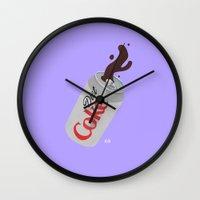 coke Wall Clocks featuring Diet Coke by Kailah Ogawa