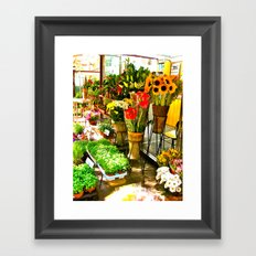 Flower Stand Framed Art Print