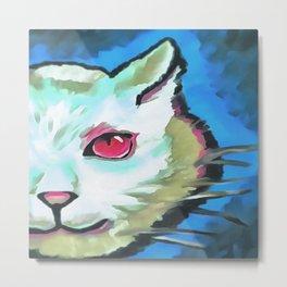 Ferocious Feline Metal Print