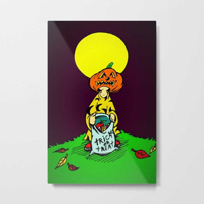 Tricky  |  Trick Or Treat  |  Halloween Metal Print