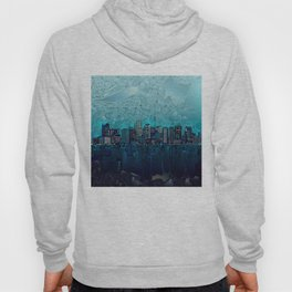 boston city skyline Hoody