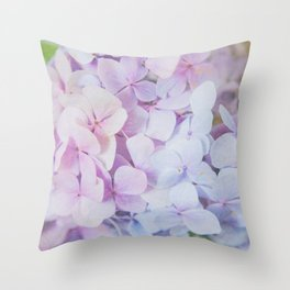 Bloomin' Fabulous Hydrangeas Throw Pillow