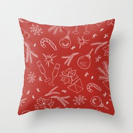 Holiday pattern Throw Pillow