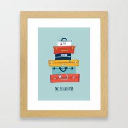 Take me anywhere Framed Art Print