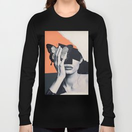 collage art / butterfly Long Sleeve T-shirt
