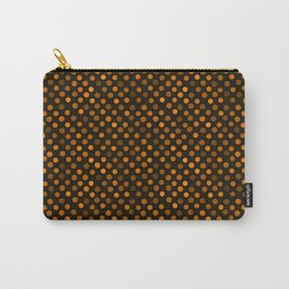 Retro Colored Dots Fabric Pumpkin Orange Carry-All Pouch