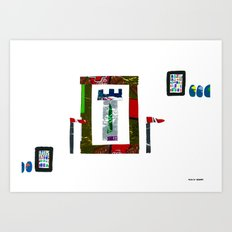 history, people, and vending machines, i Art Print