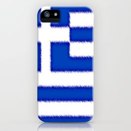 Greek flag iPhone Case