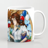 bioshock Mugs featuring BioShock Infinite by Little Lost Forest