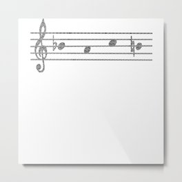 B-A-C-H Motif As Musical Notes Metal Print