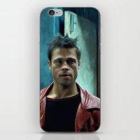 brad pitt iPhone & iPod Skins featuring Edward Norton and Brad Pitt by Gabriel T Toro