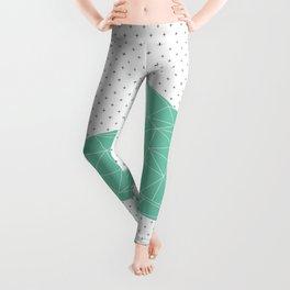 Green Faceted Cat Leggings
