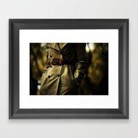 Casablanca Trench Framed Art Print