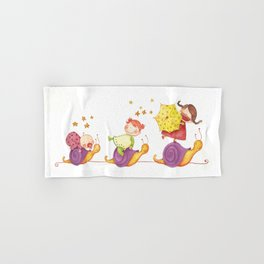 Babies in a snails Hand & Bath Towel