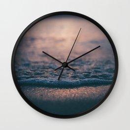 Beach Waves Detail Wall Clock