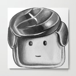 Minifigure Head Metal Print
