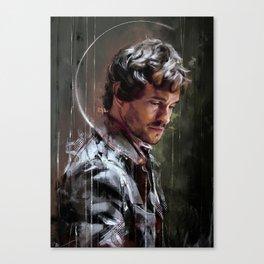 Occhi bassi Canvas Print