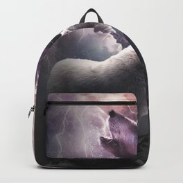 Lightning Wolf Howling At The Moon Backpack