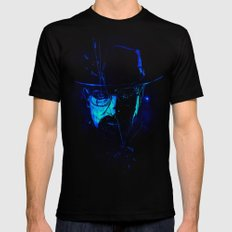 Mr. White (Crystal Blue) Mens Fitted Tee Black LARGE