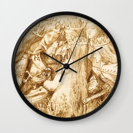 """Dante Gabriel Rossetti """"King Arthur and the Weeping Queens"""" Wall Clock"""