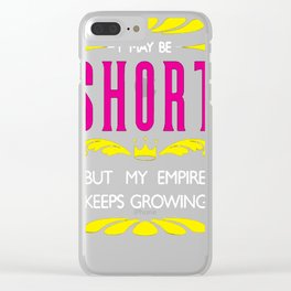 SHORT GIRL EMPIRE TANK TOP Clear iPhone Case