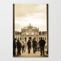 postcard Canvas Prints featuring Postcard by Gaby Arauz