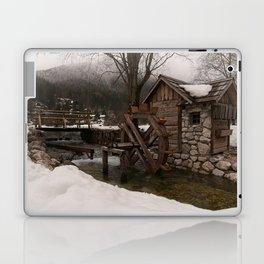 Winter Water Mill At Lake Jasna Laptop & iPad Skin