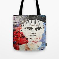 les miserables Tote Bags featuring LES MISERABLES by JANUARY FROST
