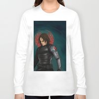 winter soldier Long Sleeve T-shirts featuring Winter Soldier by toibi