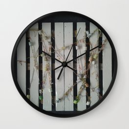 One Happy Birthday Garland on a Table Wall Clock