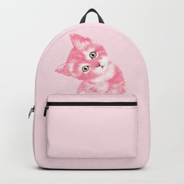 Baby Cat in Pink Backpack