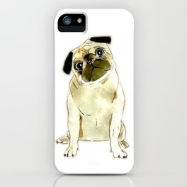 Sitting Pug iPhone Case