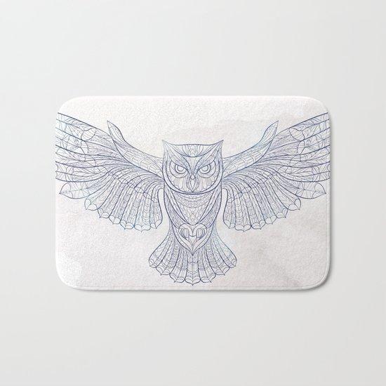 Ethnic Owl Bath Mat