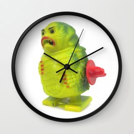 Wind-up Plastic Monster Wall Clock