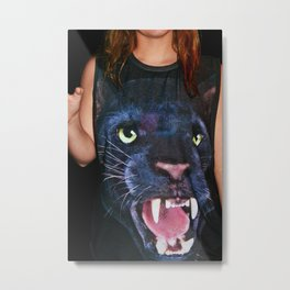 Cat Shirt Metal Print
