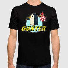 Pingu Time Black SMALL Mens Fitted Tee