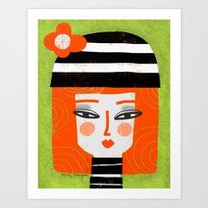 ORANGE HAIR Art Print