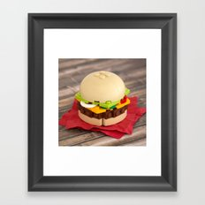Gourmet Burger Framed Art Print