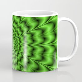 Emerald Green Toothed Rings Coffee Mug