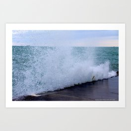 Lake Michigan Natural Fountains #1 (Chicago Waves Collection) Art Print
