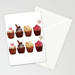 double row of cupcakes Stationery Cards